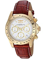 Invicta Mens 7032 Signature Collection Speedway Gold-Tone Chronograph Watch