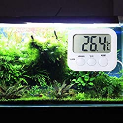LCD Digital Thermometer Refrigerator Aquarium Water Temperature Gauge Thermodetector with Probe Sensor Cable by Keaiduoa