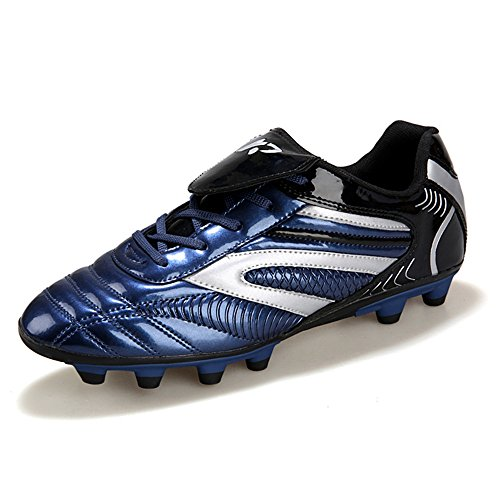 Athletic Soccer Cleats - YING LAN Men's Boys Turf Cleats Soccer Athletic Football Outdoor/Indoor Sports Shoes AG Dark Blue