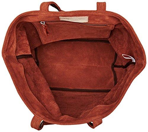 Roux et Vanessa Bruno Paillettes Velour Medium Cabas Cabas Cuir Rouge n14HPz1