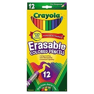 Crayola 68-4412 12 Piece Erasable Colored Pencils - 2 Pack: Arts, Crafts & Sewing