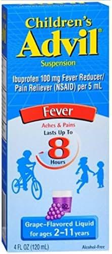 Advil Ibuprofen Oral Suspension, 100 mg, Grape 4 fl oz (120 ml)