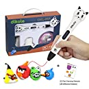 3D Pen for Kids and Adults - Dikale 05A (2017 Newest Design) 3D Doodler Drawing Printing Pen with OLED Display, 2 Free PLA Filament, 20 Stencils, Best Christmas Gifts and Toys for Boys & Girls