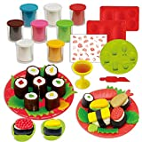 diy play dough - Colour Playdough Light Clay Dough Plasticine Mould Play Kit Diy Toy For Children For Girls (Sushi)