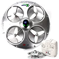 UFO Drone RC Quadcopter Helicopter CX-31 - Flying Saucer 3D Flip Roll, 6 Axis Gyroscope, 4 Channels Radio Control, 2.4 ghz 4CH Headless Mode with KiiToys USA Warranty + Tech Support