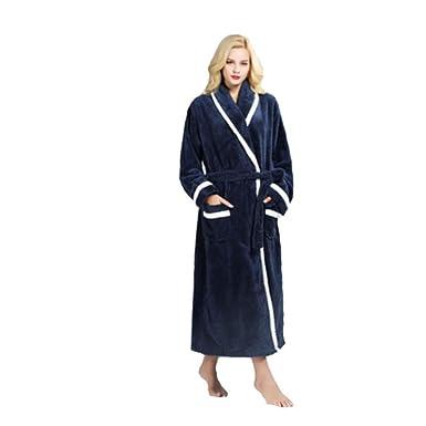 12ca150b5f moxin Women s Flannel Fleece Dressing Gown Luxury Robe Lounge Sleepwear  Long Bathrobe for Couple