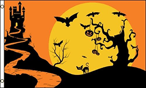 ALBATROS 3 ft x 5 ft Halloween Night Trick or Treat Flag House Banner Grommets for Home and Parades, Official Party, All Weather Indoors Outdoors