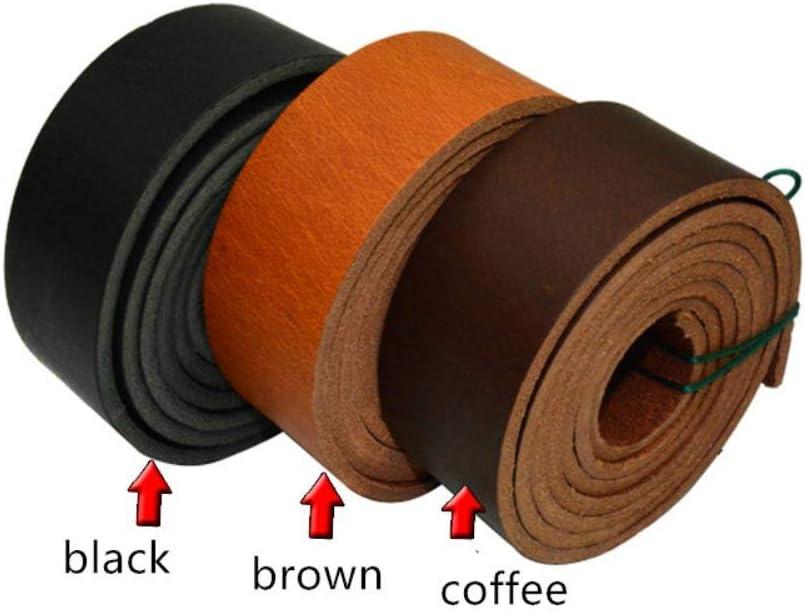 No brand Cinturino in Vera Pelle con Cinturino in Pelle Cinturino Cinturino in Pelle Spessore 4 mm Lunghezza 140 cm, Larghezza caffè 40 mm caffè largo 10 mm