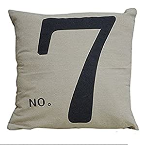 Decorbox Simple Fashion Square Linen Throw Pillow Cases