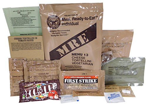 - Cheese Tortellini MRE Meal - Genuine US Military Surplus Inspection Date 2020 and Up