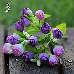 FYYDNZA 1Pcs 15 Mini Pearls Stars Roses Roses Artificial Flowers Tea Roses Living Room Artificial Flowers Decoration Flowers,3 6