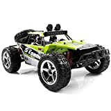 AHAHOO 1:12 Scale RC Cars 35MPH+ High Speed Off-Road Remote Control Vehicle 2.4Ghz Radio Controlled Racing Monster Trucks Rock Climber with LED Light Vision (Green)