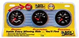 Auto Meter 7500 Phantom II 2-1/16'' Oil/Water/Voltmeter Mechanical Three-Gauge Interact Pack
