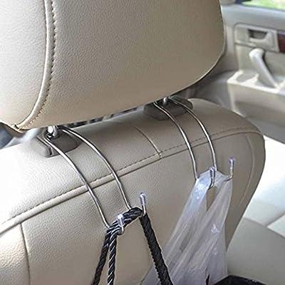 Mister Gadget USA Original Platinum Headrest Hook Car Hanger Organizer (Pack of 2 Hooks): Automotive