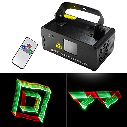 Sumger Professional DMX 3D Effect RGY Laser Show Lighting Scanner Party Light LED Projector Fantastic Full Color Xmas with Remote for Festival Bar Club Party - Scanner Dmx Professional