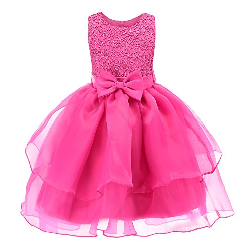 Fiream Toddler Girls' Special Occasion Dress, Rose, 2T/2-3YRS - Childrens Special Occasion Dresses