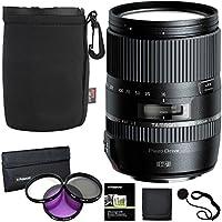 Tamron 16-300 mm AFB016C700 F/3.5 6.3 Di II VC PZD Macro Interchangeable Lens for Canon Cameras B016 + Polaroid 3 Piece Filter Kit + Ritz Gear Lens Pouch + Polaroid Accessory Bundle