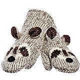 Animal World - Robbie The Raccoon Knit Mittens Grey