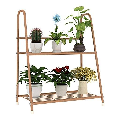 Edge to Flower Racks Multi-Storey Balcony Living Room Shelving a Few Folding Flowerpot Shelf Wooden railings