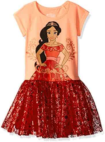 Disney Girls' Elena of Avalor Short Sleeve Dress