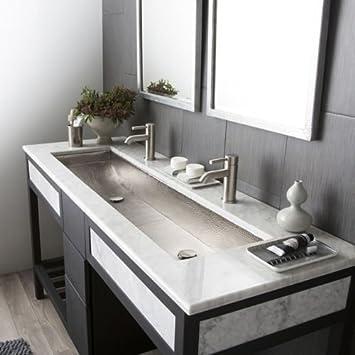 Native Trails 48 in Trough Drop In Bathroom Sink Amazoncom