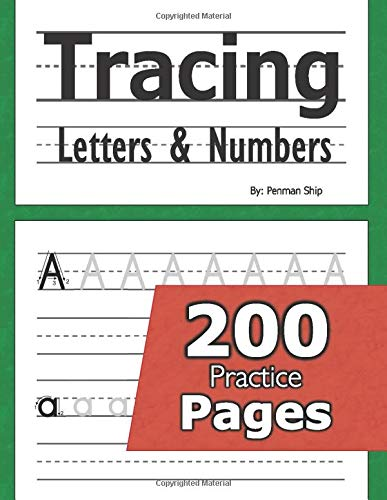 Tracing Letters Numbers Preschool Kindergarten product image