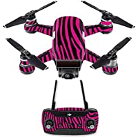 Skin for DJI Spark Mini Drone Combo - Pink Zebra| MightySkins Protective, Durable, and Unique Vinyl Decal wrap cover | Easy To Apply, Remove, and Change Styles | Made in the USA