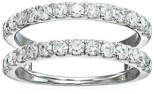 14k White Gold Diamond Solitaire Enhancer Ring (1cttw, I Color, I2 Clarity), Size 8 by Amazon Collection