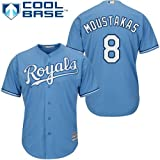 Mike Moustakas Kansas City Royals #8 MLB Youth Cool Base Alternate Jersey Blue (Youth Large 14/16)