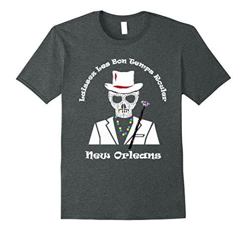 Mens Baron Samedi Laissez Les Bon Temps Rouler voodoo t-shirt XL Dark - Shirt Baron