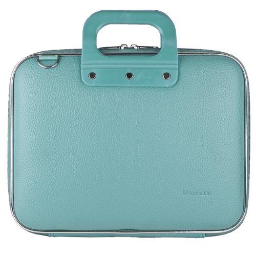 PU Leather Zipper Briefcase Shoulder Bag School Satchel (Blue) for Samsung Galaxy Book 10.6, Onda V10 Pro, V10 Plus, Teclast Master T10 Series 10.1 Tablet Laptop