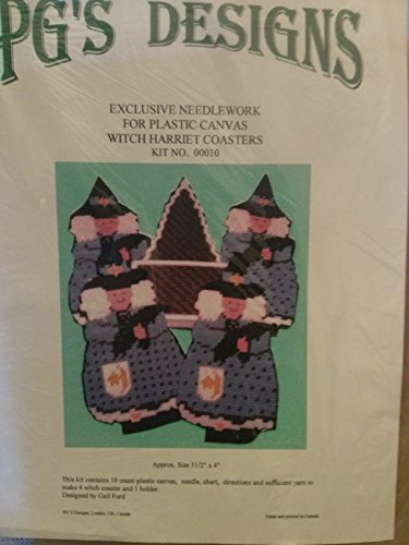 (PG's Designs Witch Harriet Coasters set of 4 Kit 7 Count Plastic Canvas)