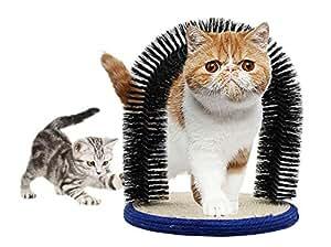 Morezi - Cepillo de Peine para Gatos, Cepillo de Masaje para Gatos, rascador para Gatos, Base de sisal: Amazon.es: Productos para mascotas
