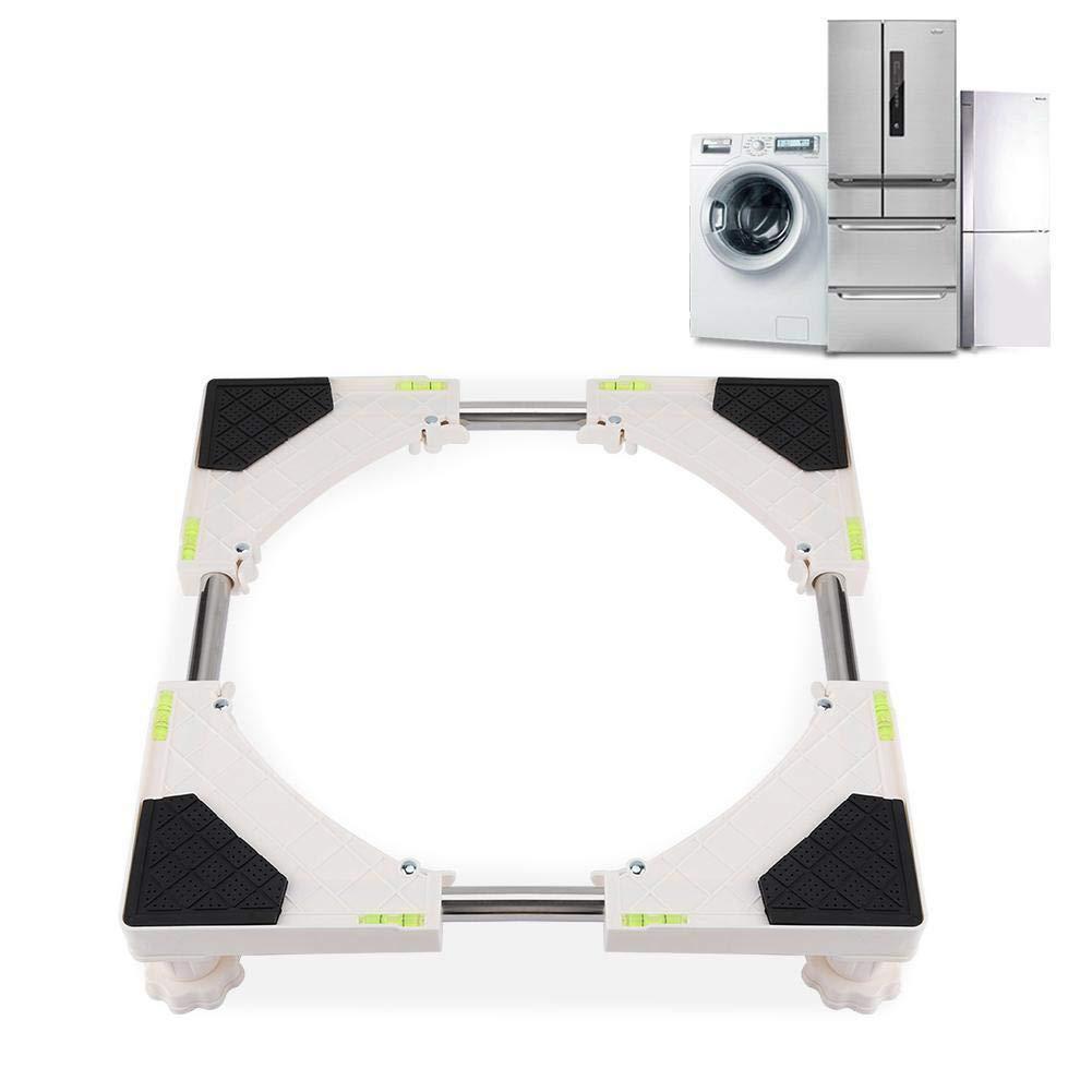Multi-Funktions-bewegliche verstellbare Basis mit 4 starken Fuß Größe einstellbar Universal Mobile Base Case Dolly für Trockner, Waschmaschine und Kühlschrank
