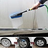 Car Wash Brush Set, Elevin(TM) Car Wash Brush Hose Adapter Vehicle Truck Cleaning Water Spray Nozzle Car Care (Blue)