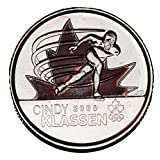 Canada 2009 25 cents Cindy Klassen Coloured BU Canadian Quarter (Shipped in a 2x2 Holder)