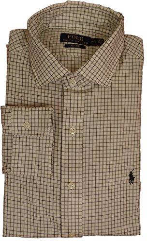 Polo Ralph Lauren Herren Business Hemd slim fit cream/grey karo Größe S