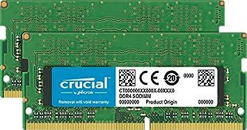 Crucial CT2K8G4SFRA266 Kit Memoria RAM de 16GB DDR4, 2666 MT//s, PC4-21300, SODIMM, 260-Pin 8GB x2