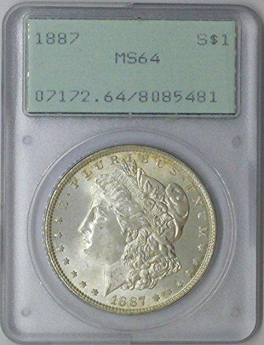 1887 P Morgan $1 MS64 PCGS Silver Dollar Old US Coin 90% Silver
