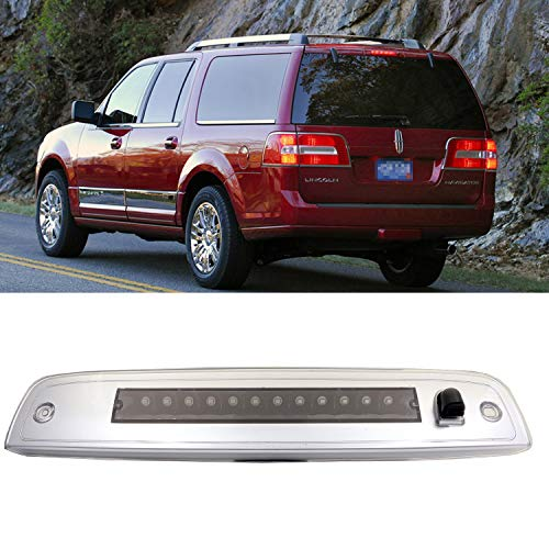 Third Brake Lamp Assembly High Mount Stop/Tail Light Lamp for 2003-16 Ford Expedition/Lincoln Navigator (Black Housing Clear