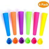 Lashary Popsicle Molds, Durable Silicon Ice Pop Molds, BPA Free, FDA Approved Freeze Pop Mold & Food Grade Material Made Ice Pop Bags, Hand-Held Small DIY Ice Cream Molds Popsicle with Lid(MultiColor)