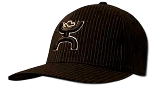 e758fac15da HOOey  quot Bugsy Black White Pinstripe Flex Fit Structured Hat - 1401BPSV  (Small