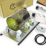Glass Bottle Cutter Kit with Adjustable Track-System. Cuts Round, Oval, Square, Large, Small