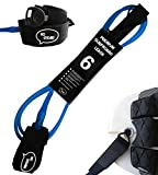 light blue lead rope - Premium Surf Leash [1 Year Warranty] Maximum Strength, Lightweight, Kink-free, Perfect for All Types of Surfboards. 7mm thick (1/4