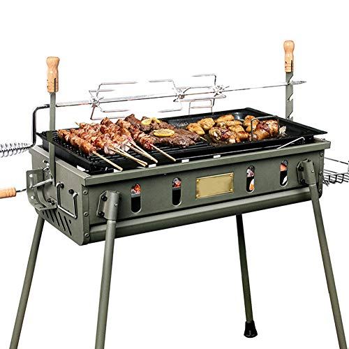 YAXuan Outdoor BBQ Portable BBQ Grill Shelf Charcoal Barbecue Tool Kits for Camping Picnic Outdoor Cooking Garden Party