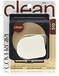 COVERGIRL Clean Powder Foundation, 1 Container (0.41 oz), Classic Ivory Tone, Hypoallergenic Facial Powder, Sensitive Skin Safe