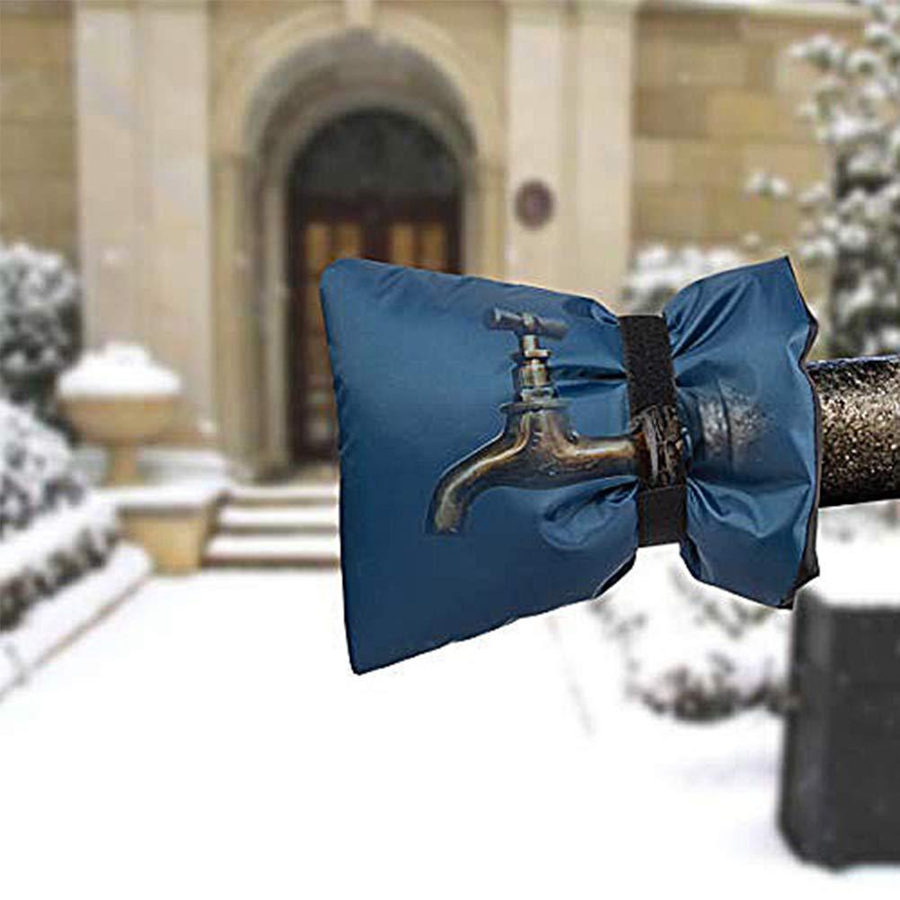 DOITOOL Coperchio di protezione del rubinetto invernale Calzini del rubinetto dellacqua Coperchio del rubinetto del congelatore per la stagione fredda