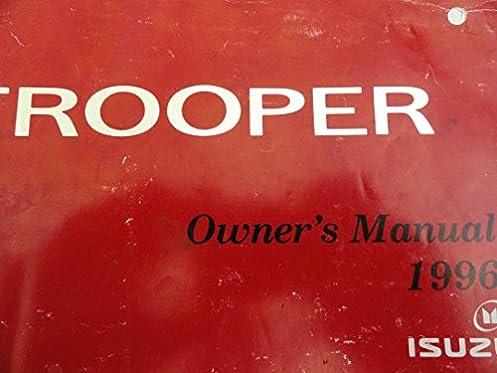 1996 isuzu trooper owners manual amazon com books rh amazon com 1998 Isuzu Trooper 1996 isuzu trooper service manual