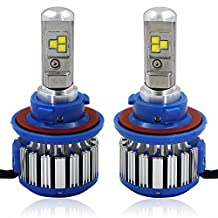 RCP - H13(9008) - LED Headlight CREE Bulbs Conversion Kits + Canbus (1 Pair) - 80W 7200Lm White(6,000K) - 2 Year Warranty