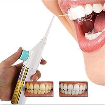 Queta Dental - Kit de Limpieza de Dientes de mechina para blanqueamiento de Dientes, Portátil, Pérdida de Potencia, Cables de Chorro de Agua Dental: ...